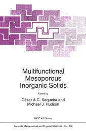 Multifunctional Mesoporous Inorganic Solids
