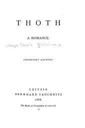 Thoth: A Romance
