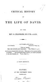 A Critical History of the Life of David