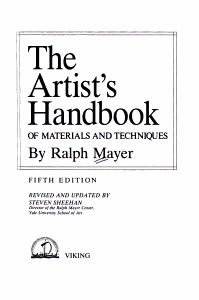 The Artist s Handbook of Materials and Techniques PDF