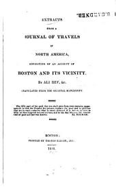 Extracts from a journal of travels in North America: consisting of an account of Boston and its vicinity