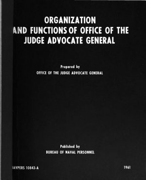 Organization and Functions of the Office of the Judge Advocate General PDF