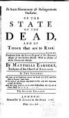 De Statu Mortuorum Resurgentium Tractatus Of The State Of The Dead And Of Those That Are To Rise