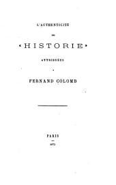 """L'authenticité des """"Historie."""""""