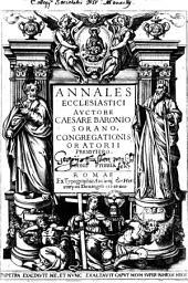 Annales Ecclesiastici: Volume 1
