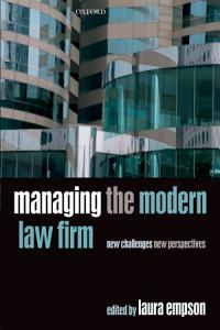 Managing the Modern Law Firm Book