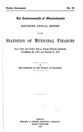 Annual Report on Statistics of Municipal Finances
