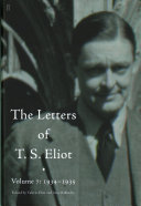 The Letters of T  S  Eliot  1934 1935 PDF