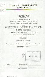Interstate Banking and Branching