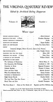 Virginia Quarterly Review  1942 PDF