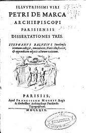 Dissertationes tres
