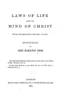 Laws of Life After the Mind of Christ PDF