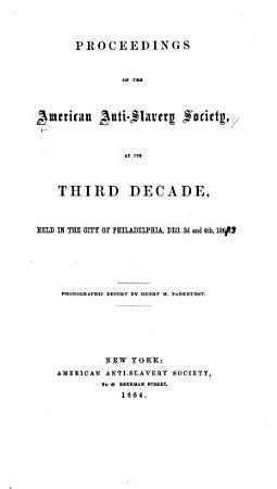 Proceedings of the American Anti slavery Society PDF