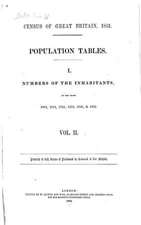 Census of Great Britain  1851 PDF