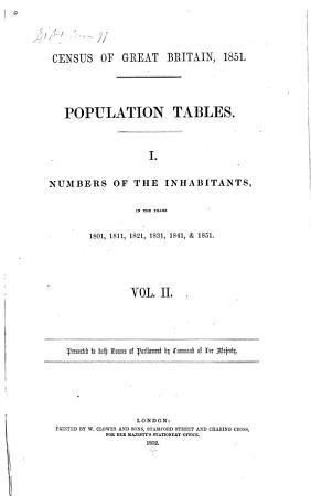 Census of Great Britain  1851 PDF