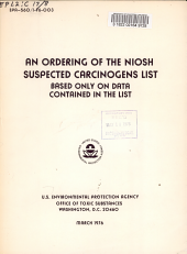 An Ordering of the NIOSH Suspected Carcinogens List Based Only on Data Contained in the List
