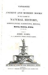 catalogue of ancient and modern  books  in all classes of natural history   PDF