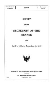 Report of the Secretary of the Senate from     PDF