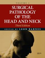 Surgical Pathology of the Head and Neck PDF