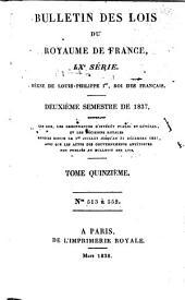 Bulletin des lois de la République franc̜aise: Numéros513à552