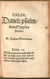 Hundertneunundvierzigster Danckpsalm vom Sieg des Fürsten
