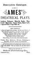 Descriptive Catalogue  Of Ames  Theatrical Plays     PDF