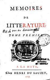 Mémoires de littérature...