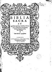 Biblia sacra... (Ed. R. Estienne)