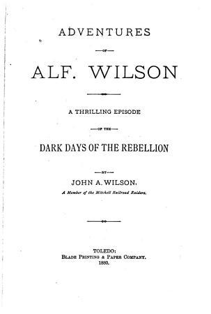 Adventures of Alf  Wilson PDF