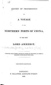 Report of Proceedings on a Voyage to China
