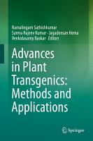 Advances in Plant Transgenics  Methods and Applications PDF