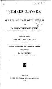 Homers Odyssee für den schulgebrauch erklärt: Bd. 2.Heft. Gesang XIX-XXIV
