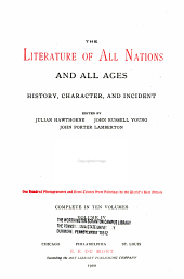 The literature of all nations and all ages: history, character, and incident, Volume 4