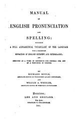 A Manual Of English Pronunciation And Spelling Book PDF