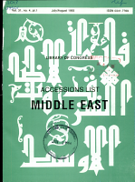 Accessions List  Middle East PDF