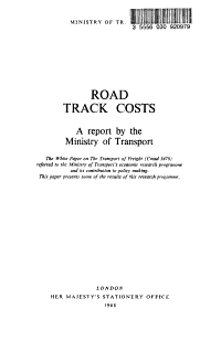 Road Track Costs