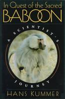 In Quest of the Sacred Baboon PDF