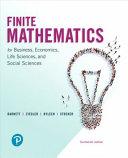 Finite Mathematics for Business  Economics  Life Sciences  and Social Sciences