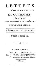 Lettres édifiantes et curieuses, écrites des missions étrangères