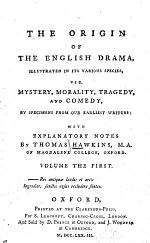 """""""The"""" Origin of the English Drama: Preface. Candlemas-day. Every-man. Hycke-scorner. Lusty Juventus [by Richard Wever] Gammer Gurton's needle. A lamentable tragedy ... conteyning the life of Cambises king of Percia"""