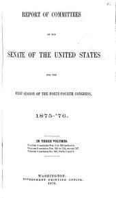 Reports of Committees: 30th Congress, 1st Session - 48th Congress, 2nd Session, Volume 2