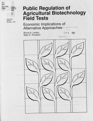 Public Regulation of Agricultural Biotechnology Field Tests PDF