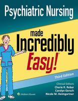 Psychiatric Nursing Made Incredibly Easy  PDF