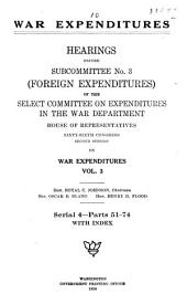 War Expenditures: Foreign expenditures. pts. 1-78 in 8 v