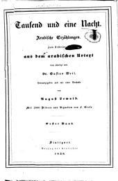 Tausend und eine Nacht: Arabische Erzählungen, Band 1