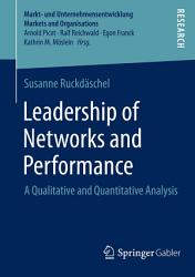 Leadership Of Networks And Performance Book PDF