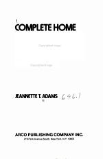Complete Home Plumbing & Heating Handbook