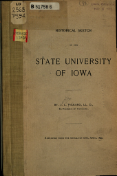 Historical Sketch of the State University of Iowa