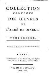 Collection complète des oeuvres de l'abbé de Mably /.