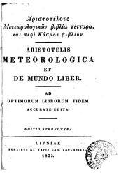Aristotelis opera omnia. Ed. stereotypa